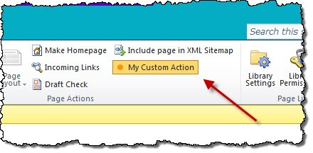 'My Custom Command' toggle button active