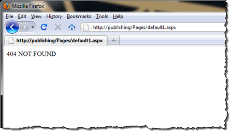 Default SharePoint 2010 'Page not found' page