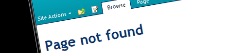 SharePoint 2010 'Page not found (404)' page the way it should be
