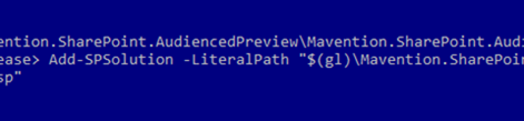 Easy installing SharePoint 2010 Solutions with PowerShell