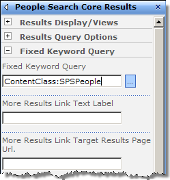 Providing Fixed Keyword Query value in the People Search Core Results Web Part