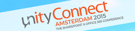Speaking at Unity Connect Amsterdam