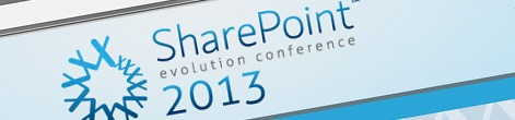 Speaking at the SharePoint Evolutions Conference 2013 in London