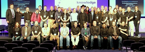 Group photo of the speakers of the International SharePoint Conference London 2012