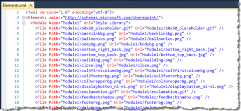 Module Manifest created by the Visual Studio 2010 SharePoint Developer Tools