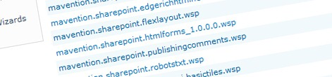 Shared components on the SharePoint platform