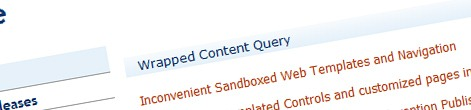 Wrapping the contents of a Content Query Web Part in additional markup