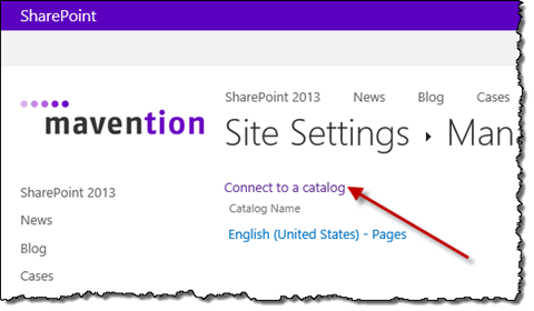 Connect to a catalog link highlighted on the Managed catalog connections page